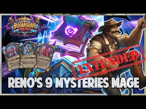 Reno's 9 Mysteries Mage | Extended Gameplay | Hearthstone | Boomsday Project