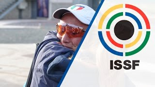 Interview with Diana BACOSI (ITA) - ISSF Shotgun World Cup 2015 in Larnaca (CYP) - Duration: 2:24.