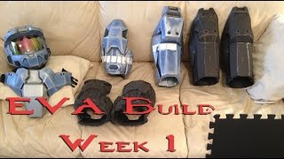 Mark VI Halo Armor EVA Foam Build Week 1