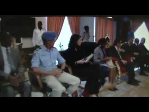 UN USG meet CAR Transition President- Catherine Samba-Panza