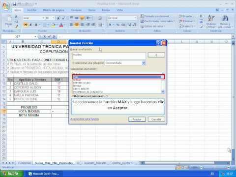 Funciones estadisticas en excel 2010 pdf
