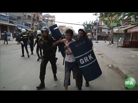 Cambodian Woman Shot Dead in Police Clash with Protesters