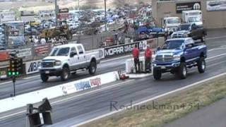 Drag Race Ford Powerstroke 7.3 With Mods Vs Stock Dodge