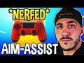 STREAMERS *SHOCKED* AIM-ASSIST IS NERFED! *RIP* - Fortnite Moments