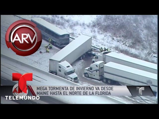 Mega tormenta invernal azota gran parte de EEUU