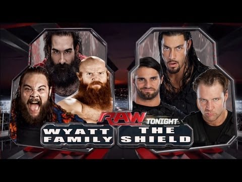 combate vai serWwe 2k14 The Wyatt Family Vs The Shield