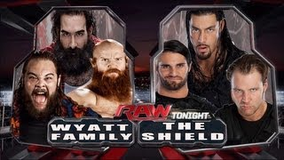 WWE RAW Wyatt Family Vs The Shield 6 Man Tag Team Match HD