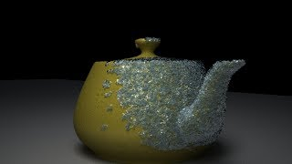 3dsmax tutorial: freezing object with particle flow material,rendering