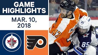 NHL Game Highlights | Jets vs. Flyers - Mar. 10, 2018