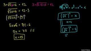 Reševanje enačbe s korenom