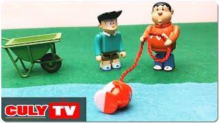 đồ chơi Doremon chế hài - Xeko rủ Chaien đi câu cá gặp khủng long trộm con cá Doraemon Toy Animation