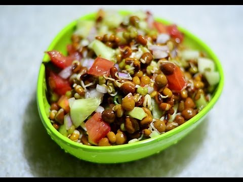 Moong Sprouts Salad Recipe Video - YouTube