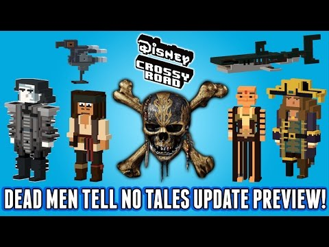 Disney Crossy Road Dead Men Tell No Tales Preview - Pirates Of The Caribbean Secret Characters