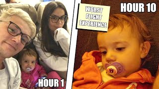 THE WORST 12 HOUR FLIGHT WITH A BABY! *someone hit us on the plane*