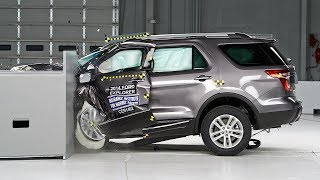 2014 Ford Explorer Small Overlap IIHS Crash Test