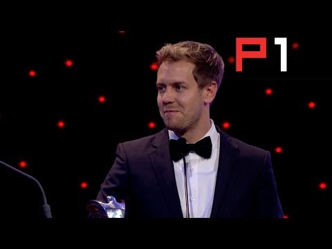 Sebastian Vettel making jokes at the Autosport Awards 2013