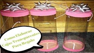 Hacer cajas transparentes para regalo