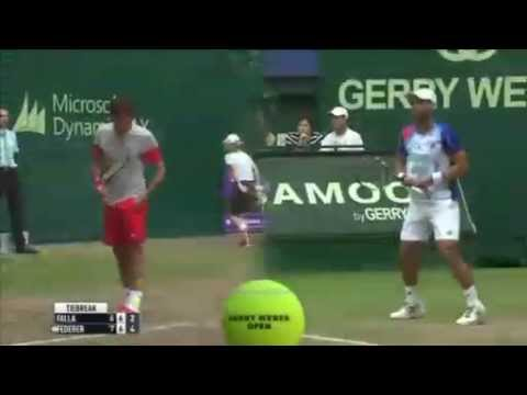 ATP Halle- Roger Federer Vs Alejandro Falla - Full Highlights 15th June 2014