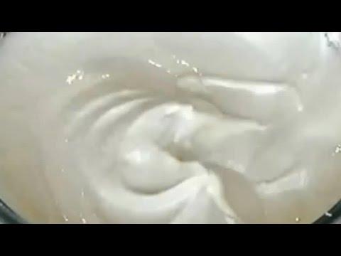 Как сделать крем из сахара и белка