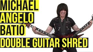 Michael Angelo Batio: Double Guitar Shred Medley