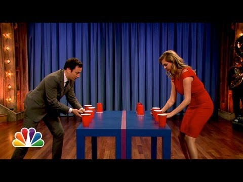 Kate Upton Is a Flip Cup Pro (Late Night with Jimmy Fallon)