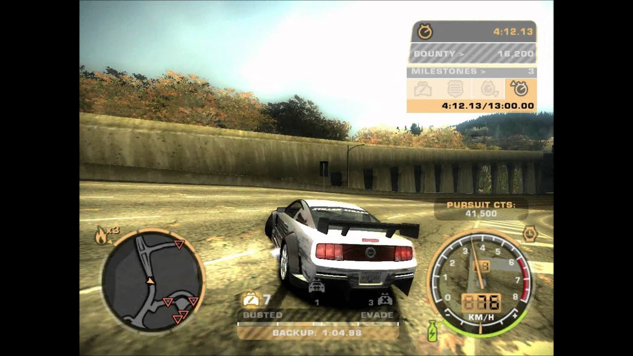 need for speed most wanted trainer 2005