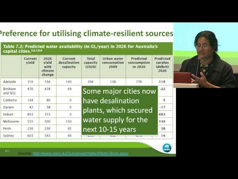 ILSI India: Adapting Urban Water Supplies to Climate Change (Dr Shiroma Mahipala)
