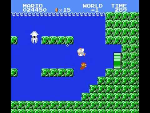 Super Mario Bros - Super Mario Bros how to go to world -1 and world 5 from world 1 - User video
