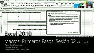 Macros En Excel 2010: Habilitar Macros. Configuración De