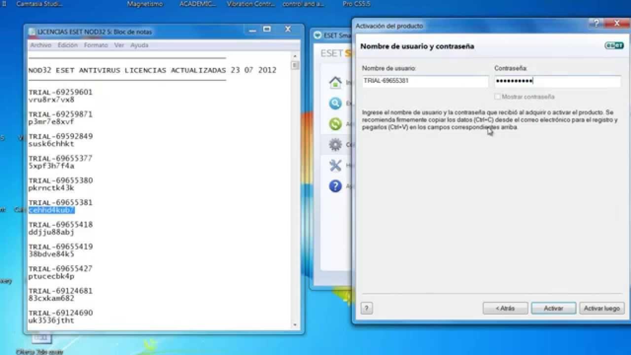 Actualizador De Licencias Nod32 5