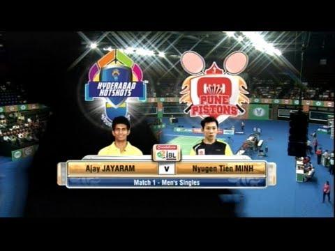Tien Minh Vs Ajay Jayaram   Men's Singles   Pune Pistons Vs Hyderabad