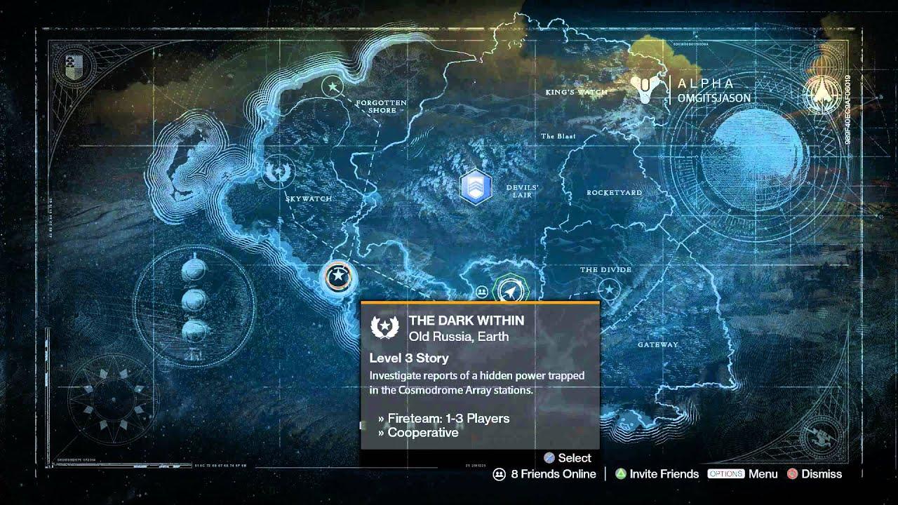 Map of Venus fromvg  DestinyTheGame