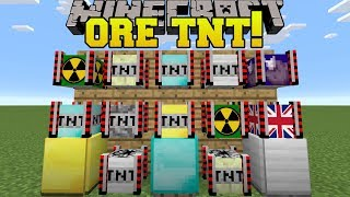 Minecraft: ORE TNT!!! (DIAMOND TNT, EXPLOSIVE BARRELS, & MORE!) Mod Showcase
