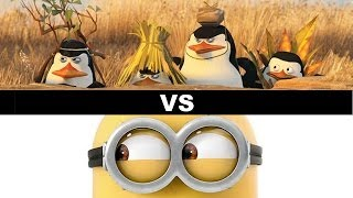Penguins Of Madagascar Vs Minions Movie 2015 Beyond The