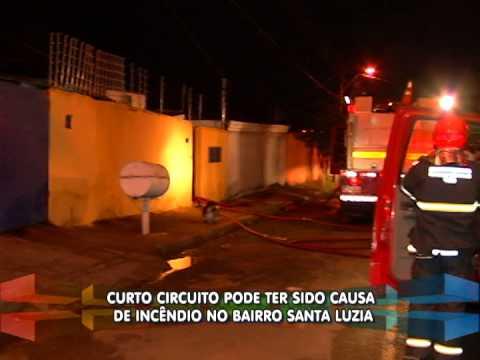Curto circuito pode ter sido causa de incêndio no Santa Luzia