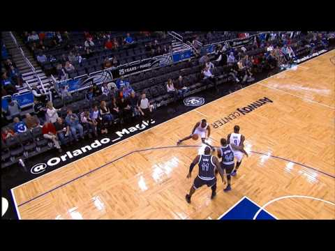 Serge Ibaka Dunks on Nikola Vucevic!