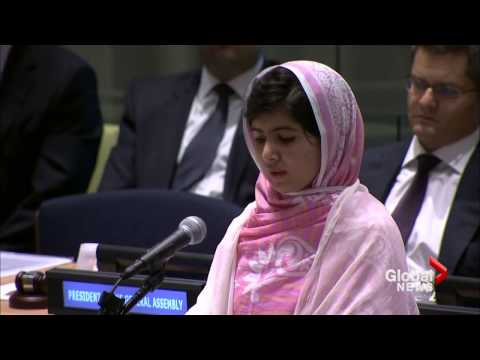 Malala Yousafzai says 'bullets cannot silence' her message