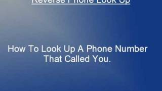 How To Look Up An Unknown Phone Number