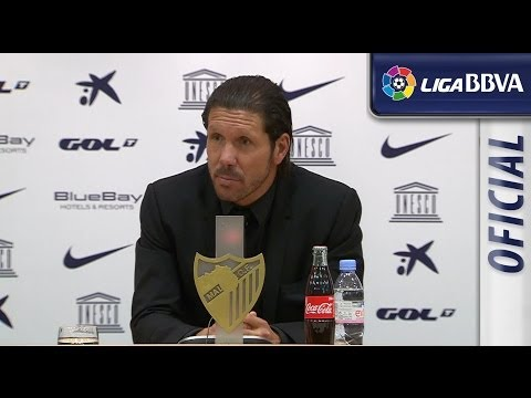 Rueda de Prensa de Simeone tras el Málaga CF (0-1) Atlético de Madrid - HD