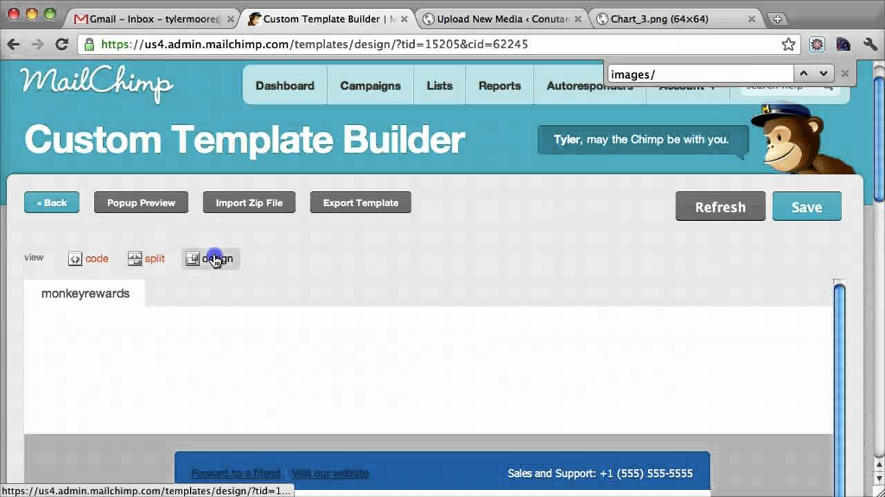 mailchimp custom email template tutorial youtube