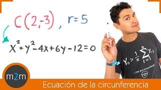 Ecuación general de la circunferencia