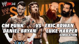 WWE 2K14 Survivor Series: CM Punk & Daniel Bryan Vs Eric
