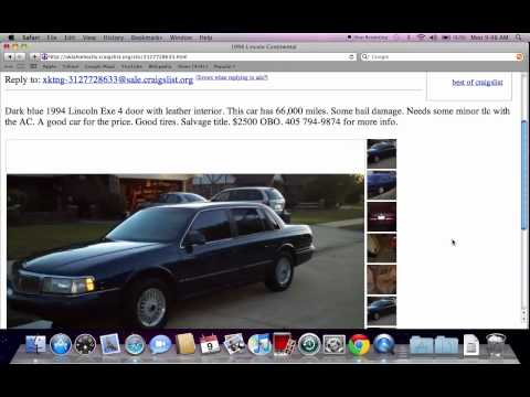 Craigslist Oklahoma City Used Cars For Sale - Best By ...