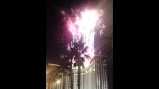 [New years eve countdown and fireworks in Las Vegas] Video