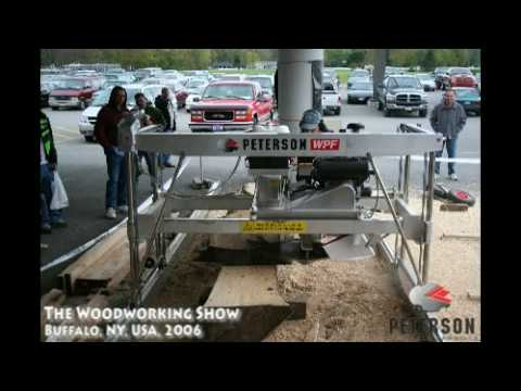 Peterson Portable Sawmill Demonstration - Photo Slideshow