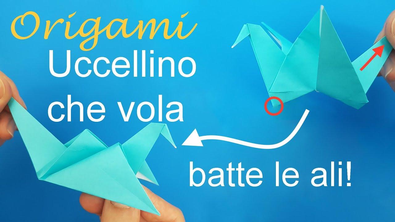 Origami uccellino che vola facile youtube - Origami youtube facile ...