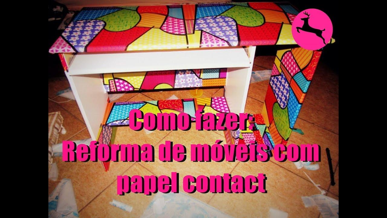 DIY: Como reformar um móvel de madeira com papel contact   #C00B63 1280x960