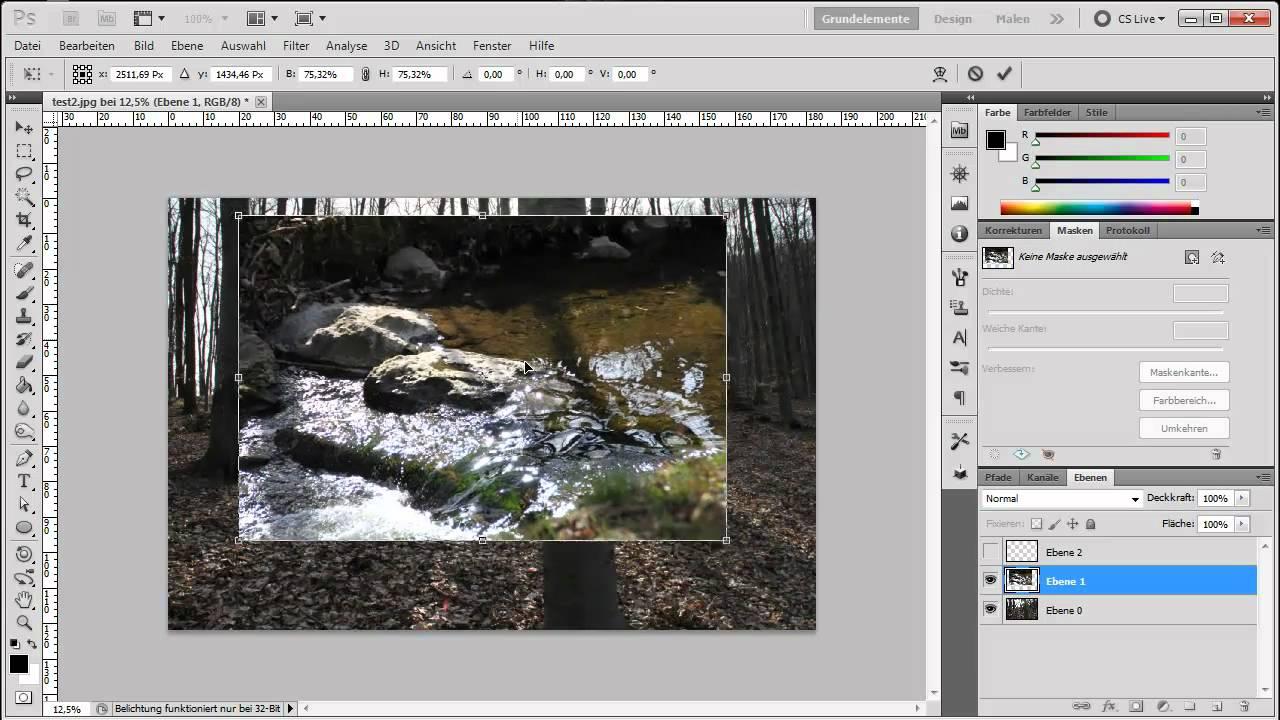 adobe photoshop tutorial anf nger teil 2 ebenen skalieren zuschneiden youtube. Black Bedroom Furniture Sets. Home Design Ideas