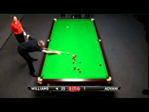Mark Williams - Pankaj Advani (Frame 4) Snooker Bluebell Wood Open 2013 - Round 9