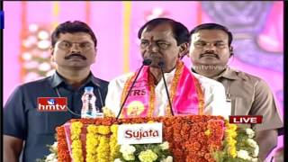 KCR showers boons for farmers at Warangal meet..